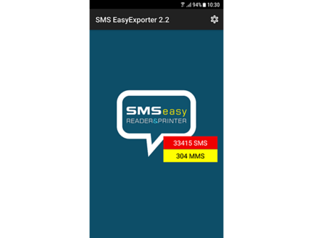 Print SMS from Android with SMS EasyExporter