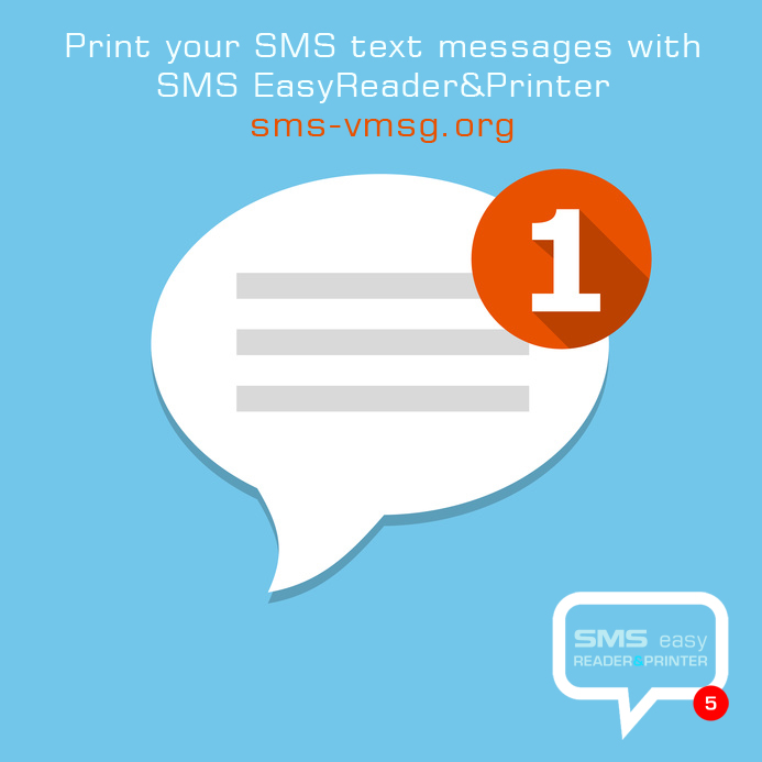 Printing SMS text messages